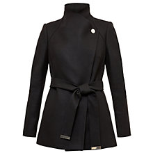 Buy Ted Baker Elethea Short Button Detail Wrap Coat Online at johnlewis.com