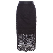Buy Coast Audrey Lace Pencil Skirt, Black Online at johnlewis.com