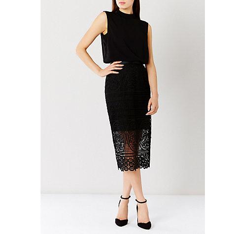 buy coast lace pencil skirt black lewis