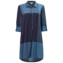 Buy White Stuff Azure Check Tunic, Ink Pot Blue Online at johnlewis.com