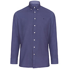 Buy Hackett London Garment Dye Oxford Slim Shirt, Dusty Navy Online at johnlewis.com