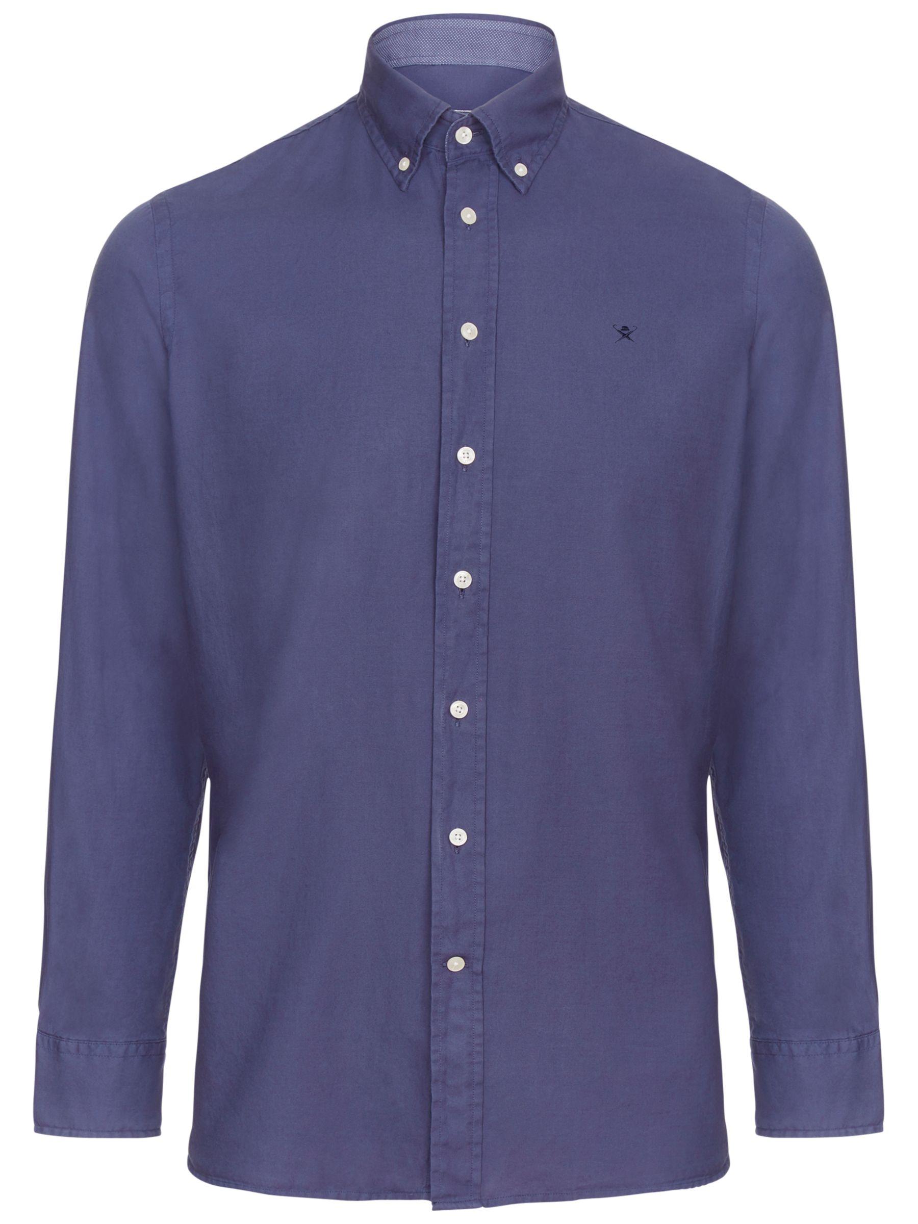 Hackett London Hackett London Garment Dye Oxford Slim Shirt, Dusty Navy