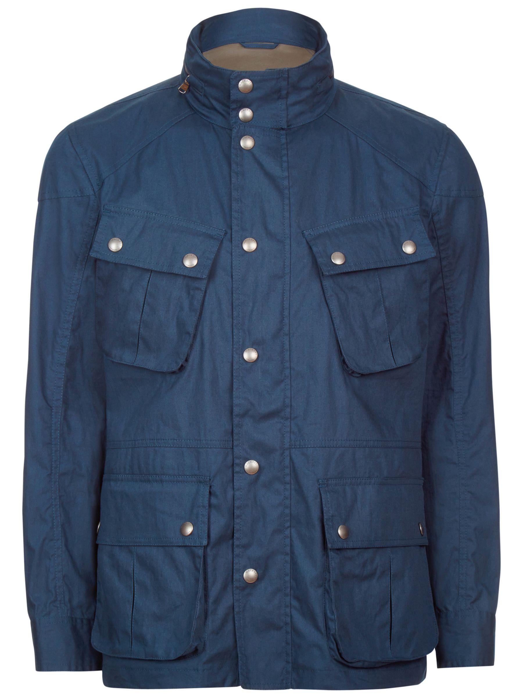 Hackett London Hackett London Velospeed Water-Repellent Cotton Coat, Navy