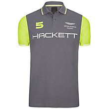 Buy Hackett London Aston Martin Racing Wings Polo Shirt, Steel Grey Online at johnlewis.com