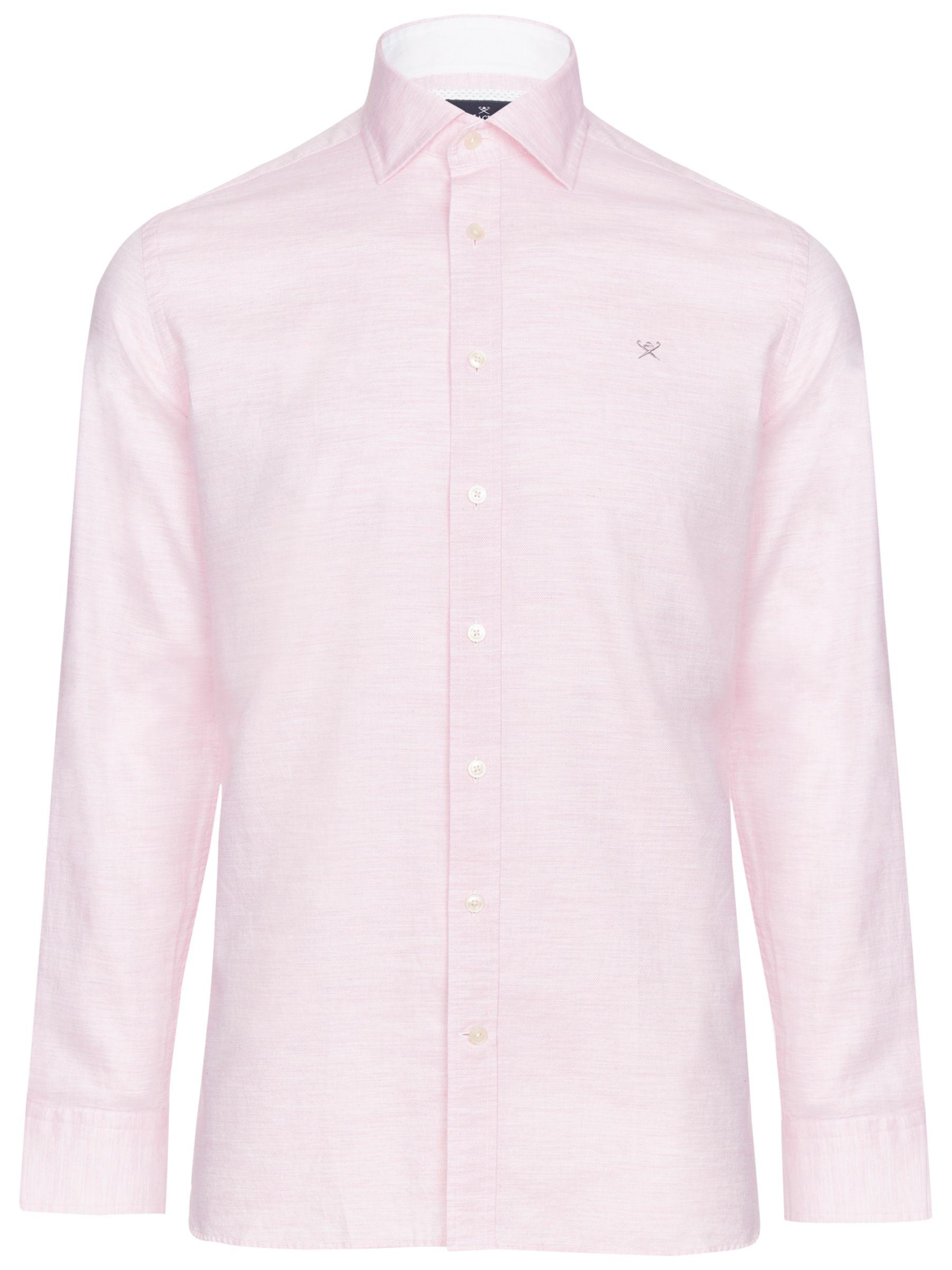 Hackett London Hackett London Plain Melange Slim Fit Shirt