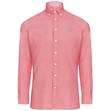 Buy Hackett London Brompton Garment Dyed Slim Oxford Shirt, Dark Rose Online at johnlewis.com
