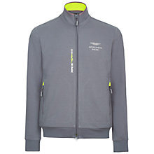 Buy Hackett London Aston Martin Racing Full Zip Hooded Jumper, Steel Grey Online at johnlewis.com