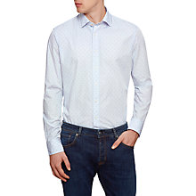 Buy Hackett London Double Dobby Shirt, Blue/Multi Online at johnlewis.com