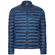 Buy Hackett London Lightweight Down Moto Coat, Blue Online at johnlewis.com