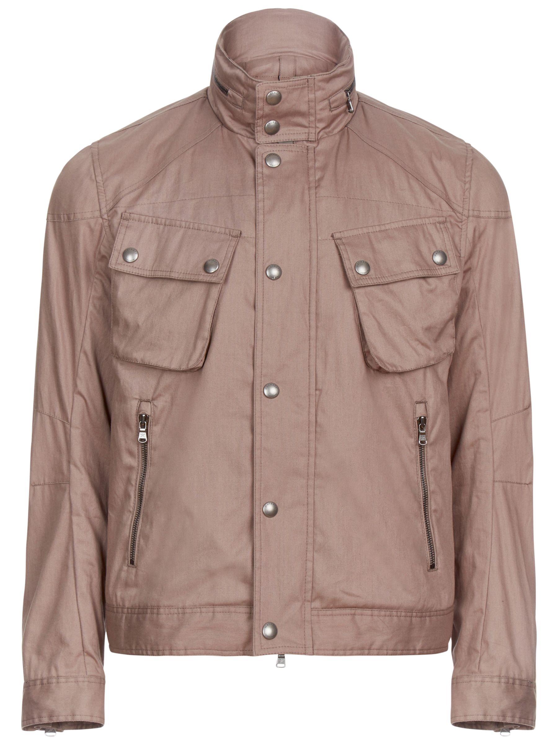 Hackett London Hackett London Short Velo Jacket, Brown