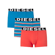 Buy Diesel Shawn Stripe Plain Trunks, Pack of 3, Blue/Red Online at johnlewis.com