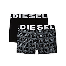 Buy Diesel Logo Trunks, Pack of 2, Black Online at johnlewis.com
