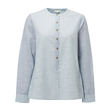 Buy White Stuff Moss Stripe Shirt, Ink Pot Blue Online at johnlewis.com