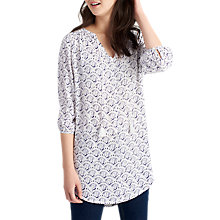 Buy Joules Lilah Printed Tunic Top, Bright White Shell Online at johnlewis.com