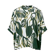 Buy Kin by John Lewis Naive Floral Oversized Shirt, Green Online at johnlewis.com
