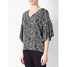 Buy Kin by John Lewis Japanese Floral Top, Black Online at johnlewis.com