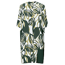 Buy Kin by John Lewis Naive Floral Oversized Dress, Green Online at johnlewis.com
