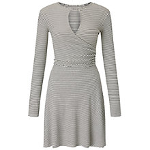 Buy Miss Selfridge Striped Ribbed Skater Dress, Multi Online at johnlewis.com