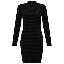Buy Miss Selfridge Petite High Neck Bodycon Dress, Black Online at johnlewis.com