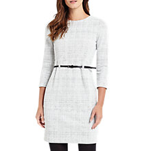 Buy Phase Eight Tabatha Textured Dress, Cream/Grey Online at johnlewis.com
