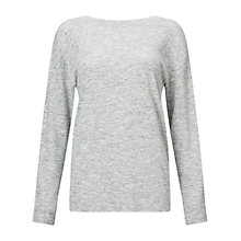 Buy Miss Selfridge Wrap Back Cut And Sew Top, Grey Online at johnlewis.com