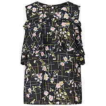 Buy Miss Selfridge Pie Crust Floral Cold Shoulder Top, Multi Online at johnlewis.com