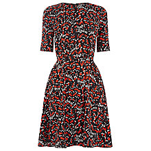 Buy Warehouse Tiger Moth Flippy Dress, Black Online at johnlewis.com