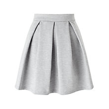 Buy Miss Selfridge Ponte Skater Skirt, Grey Online at johnlewis.com