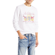 Buy Levi's Graphic Crew Neck Sweatshirt, White Online at johnlewis.com