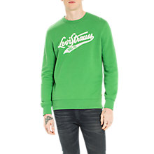 Buy Levi's Graphic Crew Sweatshirt, Medium Green Online at johnlewis.com