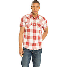 Buy Levi's Short Sleeve Classic Check Western Shirt, Marsala Online at johnlewis.com