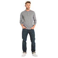 Buy Levi's Brystant Henley T-Shirt, Dress Blues/White Online at johnlewis.com