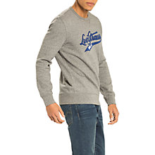 Buy Levi's Graphic Crew Neck Sweatshirt, Midtone Heather Grey Online at johnlewis.com