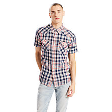 Buy Levi's Barstow Short Sleeve Western Shirt, Dress Blues Online at johnlewis.com