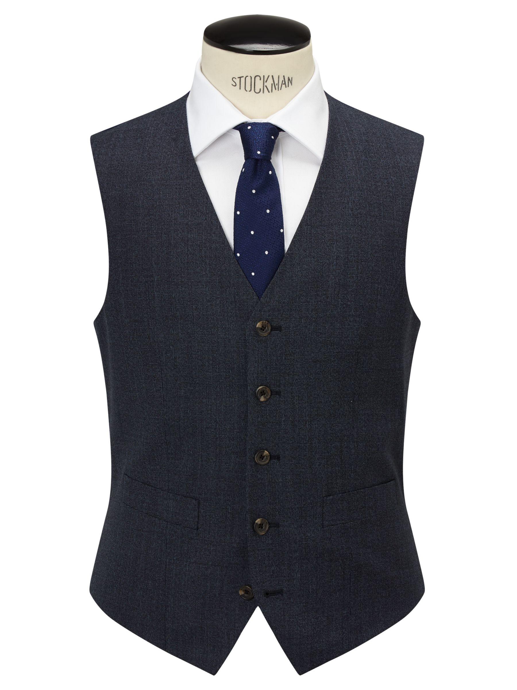Chester by Chester Barrie Chester by Chester Barrie Pindot Wool Tailored Waistcoat, Airforce
