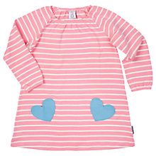 Buy Polarn O. Pyret Girls' Striped Heart Dress, Pink Online at johnlewis.com
