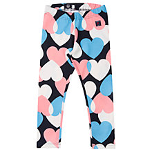 Buy Polarn O. Pyret Girls' Heart Leggings, Blue/Pink Online at johnlewis.com