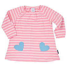 Buy Polarn O. Pyret Baby Striped Dress, Pink Online at johnlewis.com