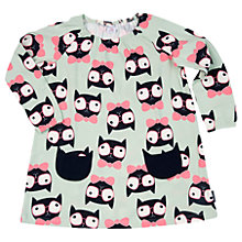 Buy Polarn O. Pyret Girls' Cat Dress, Green Online at johnlewis.com