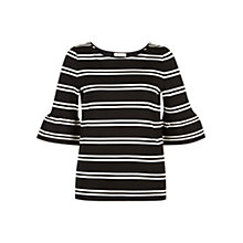 Buy Hobbs Harris Top, Black/Ivory Online at johnlewis.com