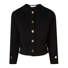 Buy L.K. Bennett Myriam Cropped Cardigan, Black Online at johnlewis.com