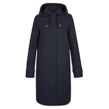 Buy Hobbs Finchley Mac Coat, Navy Online at johnlewis.com