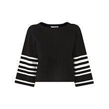 Buy L.K. Bennett Langley Stripe Sleeve Top, Multi Online at johnlewis.com