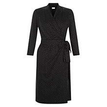 Buy Hobbs Abbie Wrap Dress, Black Vicuna Online at johnlewis.com