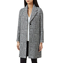Buy Hobbs Sabrine Coat, Black/Ivory Online at johnlewis.com