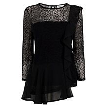 Buy Coast Merve Lace Top, Black Online at johnlewis.com