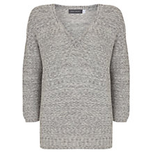 Buy Mint Velvet Tape V Neck Knit, Grey Online at johnlewis.com