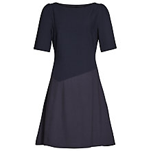 Buy Reiss Zila Textured Dress, Night Navy Online at johnlewis.com