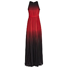 Buy Reiss Hawk Ombre Pleated Dress, Multi/Red Online at johnlewis.com