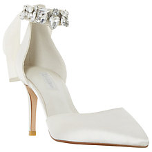 Buy Dune Diamond Embellished Pointed Toe Court Shoes, Ivory Online at johnlewis.com